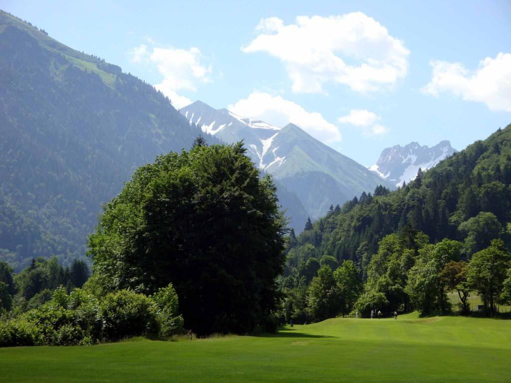 Von Bergen umrahmt: Die 9-Loch-Anlage des Golfclubs Oberstdorf