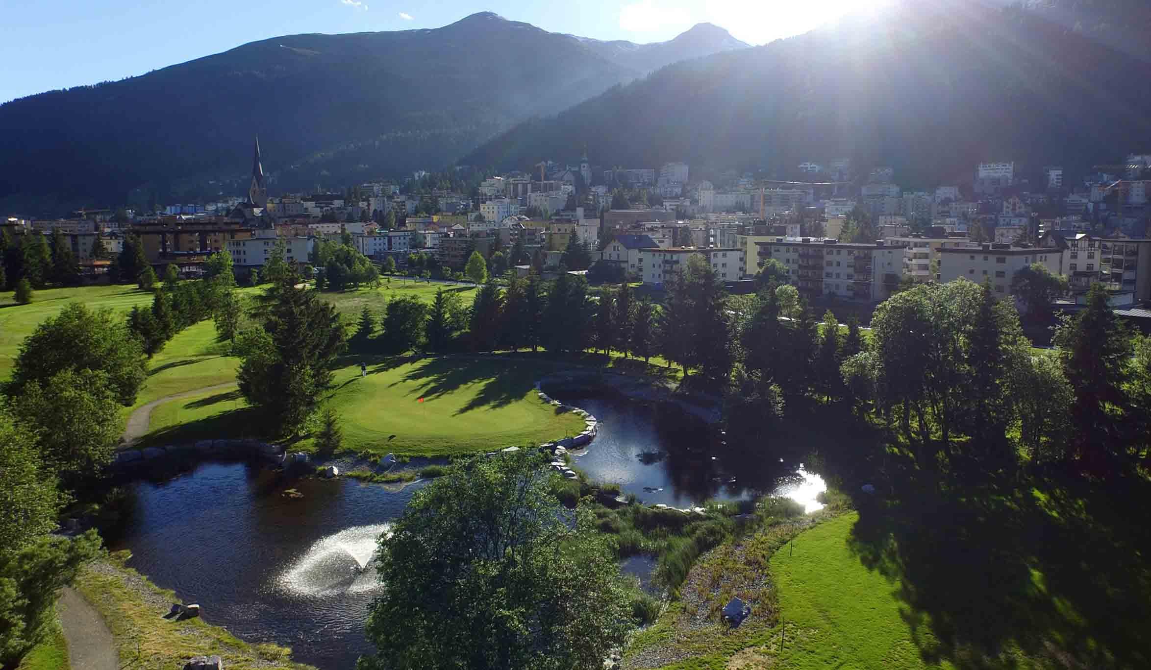 Ein wunderschöner Golfplatz in direkter Nachbarschaft zu Davos
