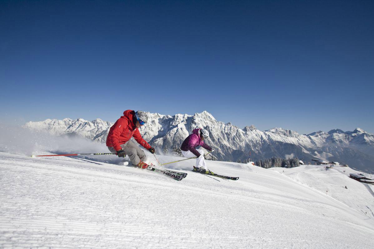 Das Hotel Rupertus liegt direkt in Österreichs größtem Skigebiet Fotos: Hotel Rupertus