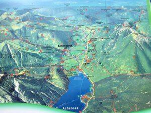 Karte Achensee